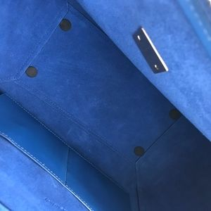 Unsure - Similar to a Designer Brand Bags - Blue Purse with Black and Red Trim